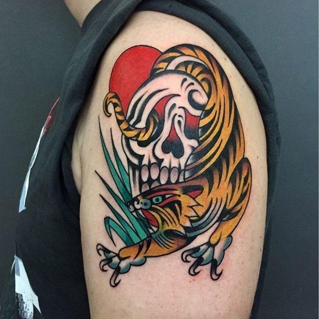 Traditional Tiger Tattoo 30