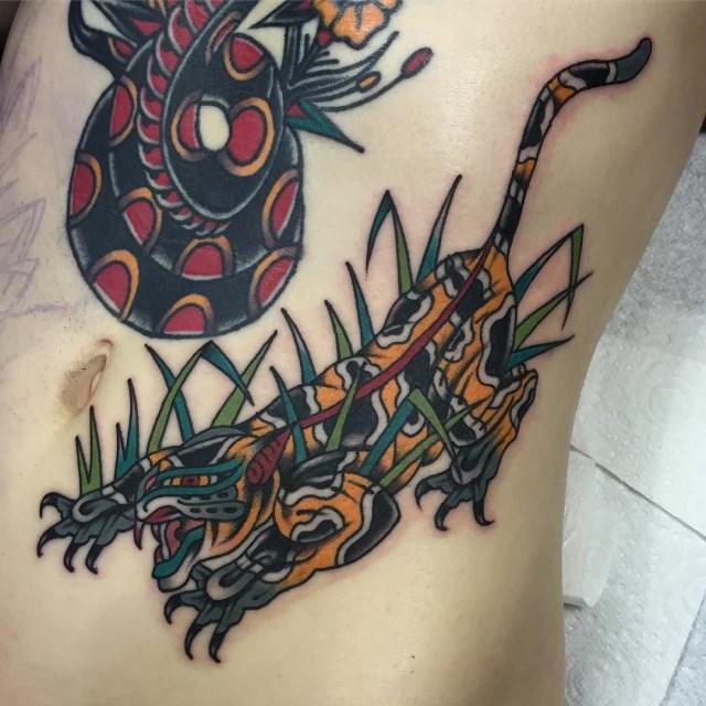 Traditional Tiger Tattoo 39