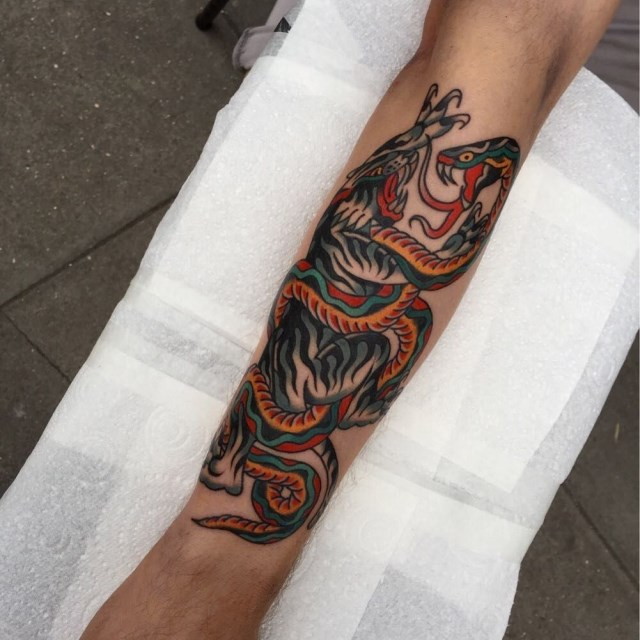 traditional tiger tattoo 40
