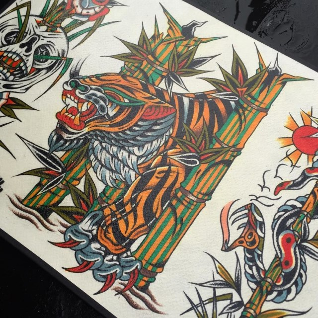 traditional tiger tattoo 43