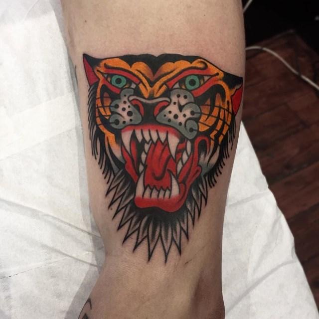 Traditional Tiger Tattoo 44