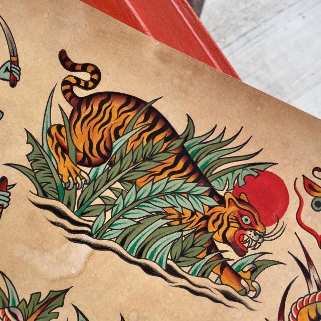 traditional tiger tattoo 46