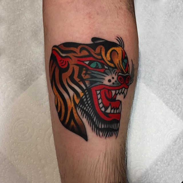 Traditional Tiger Tattoo 51