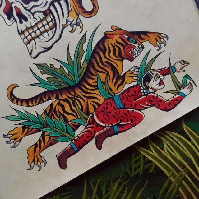 Traditional Tiger Tattoo 54