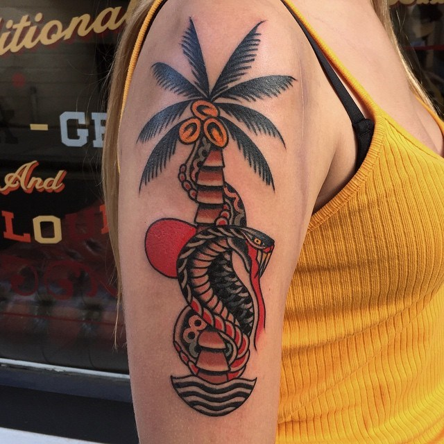 traditional tropical tattoo 02