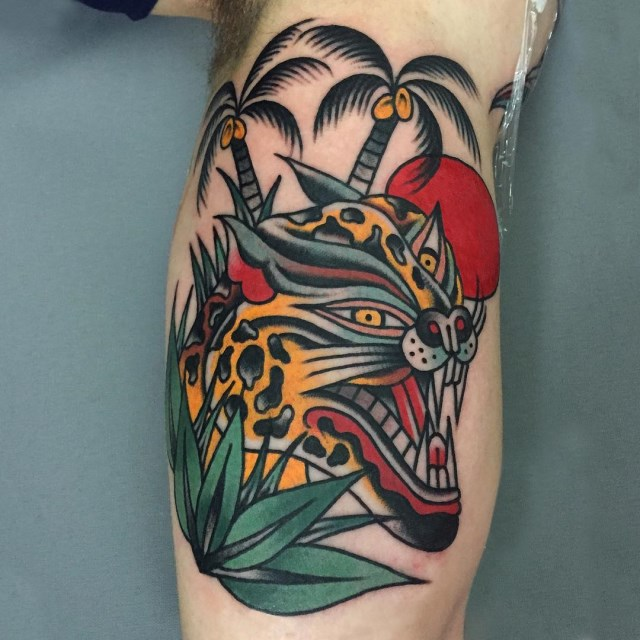 traditional tropical tattoo 11