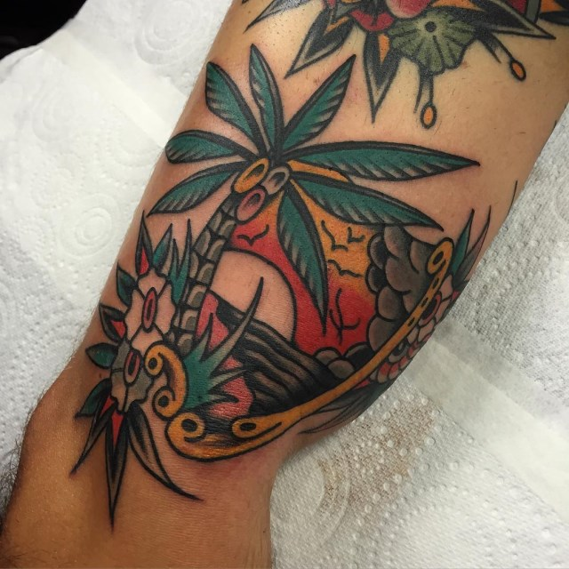 traditional tropical tattoo 18