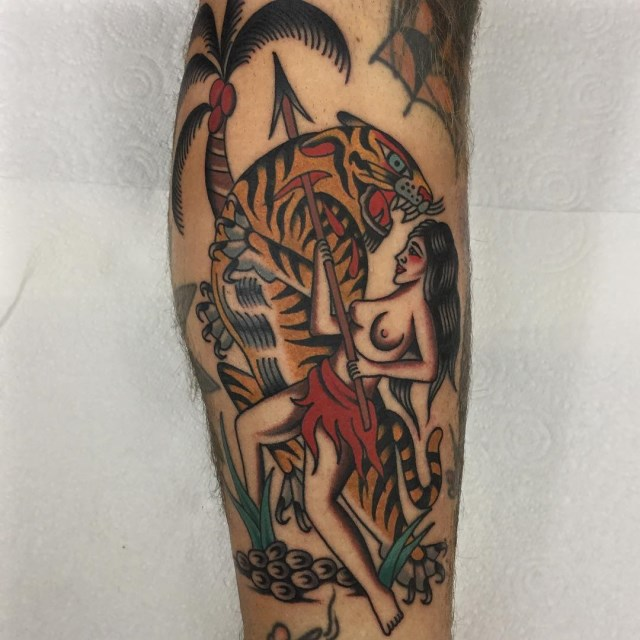 traditional tropical tattoo 43