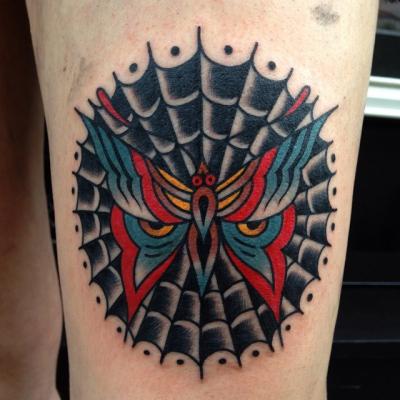Traditional Web Tattoo 5
