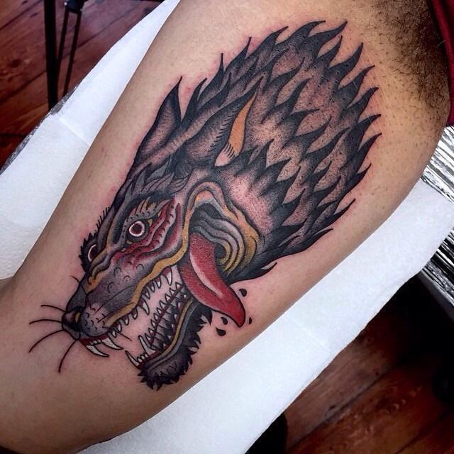 traditional wolf tattoo 01