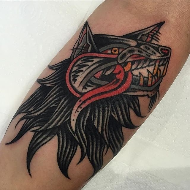 traditional wolf tattoo 10