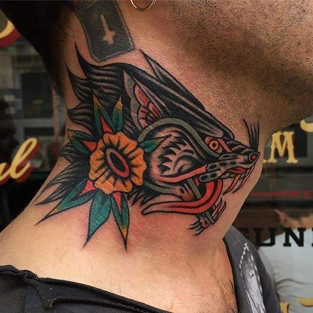 traditional wolf tattoo 11