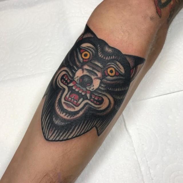 traditional wolf tattoo 25