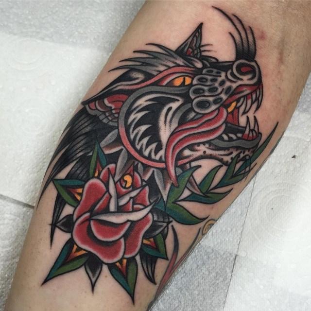 traditional wolf tattoo 28